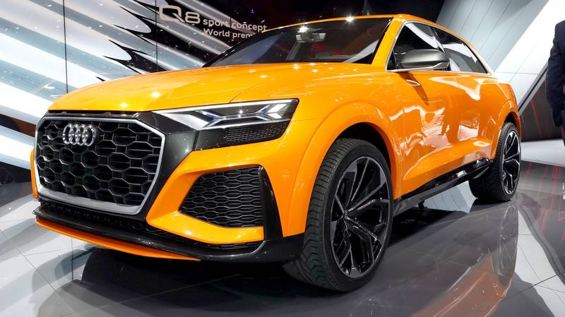 eneva 2017 audi q8 sport concept je dal hybridn suv. Black Bedroom Furniture Sets. Home Design Ideas