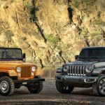 1973 Jeep® CJ-5 and all-new 2018 Jeep Wrangler Sahara