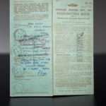 """Volvo P1800 S """"ST1"""" registration document with Roger Moore's signature"""