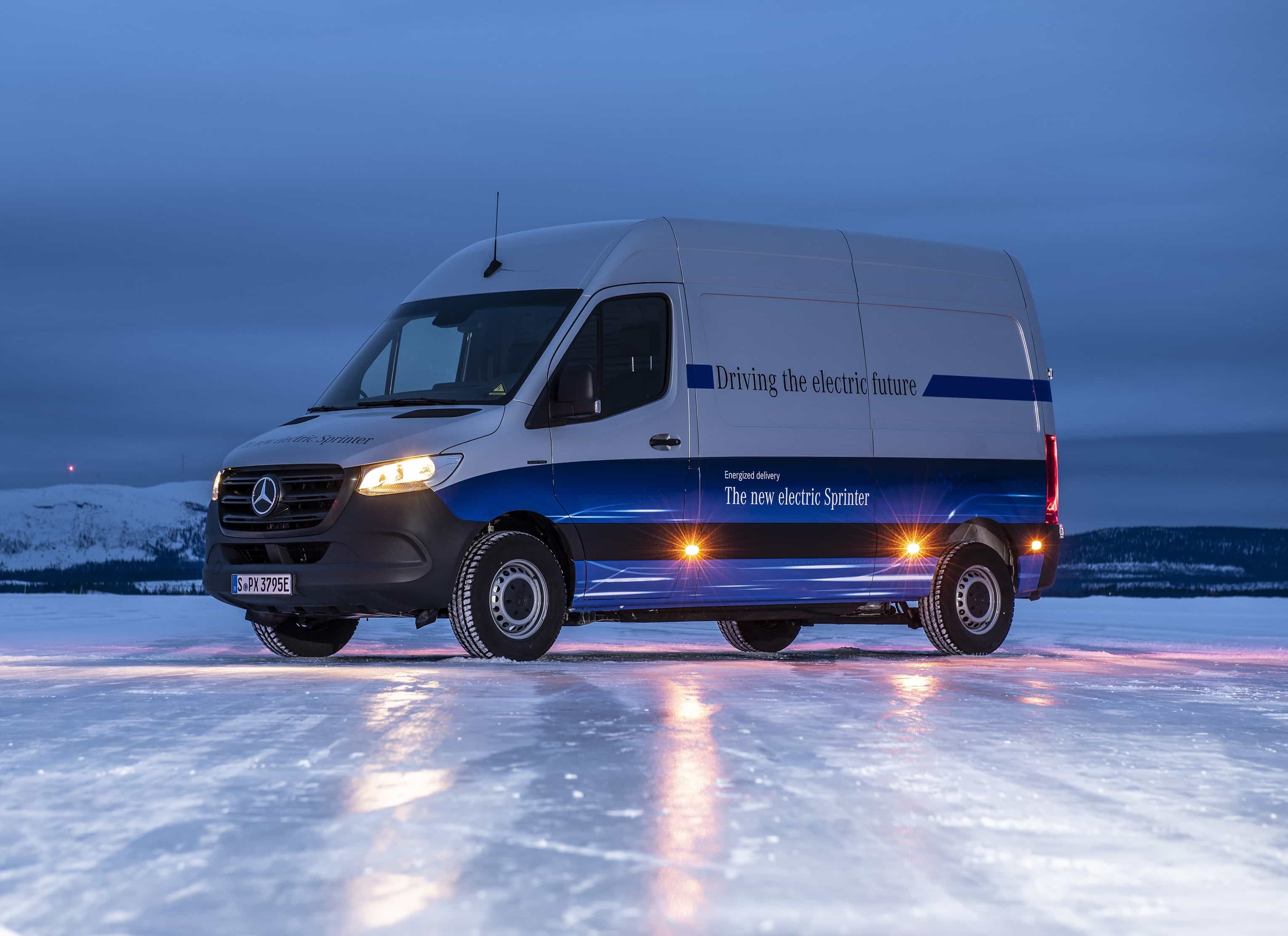 Wintererprobung Mercedes-Benz eSprinter in Schweden  Winter trials Mercedes-Benz eSprinter in Sweden