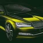 skoda superb facelift skica