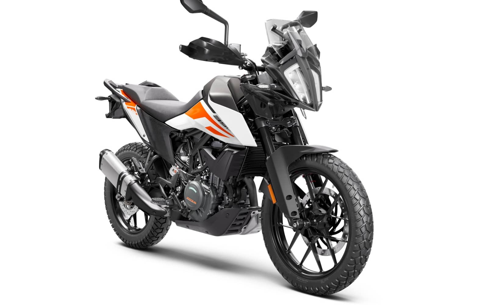 KTM 390 ADVENTURE MY20 White – front-right