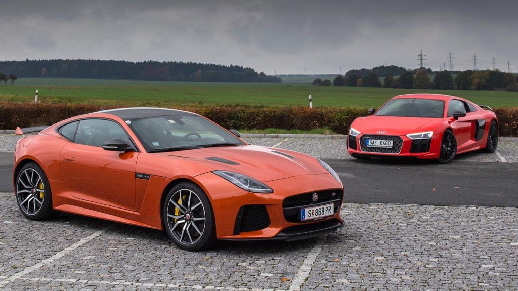 Audi R8 vs Jaguar F-Type SVR