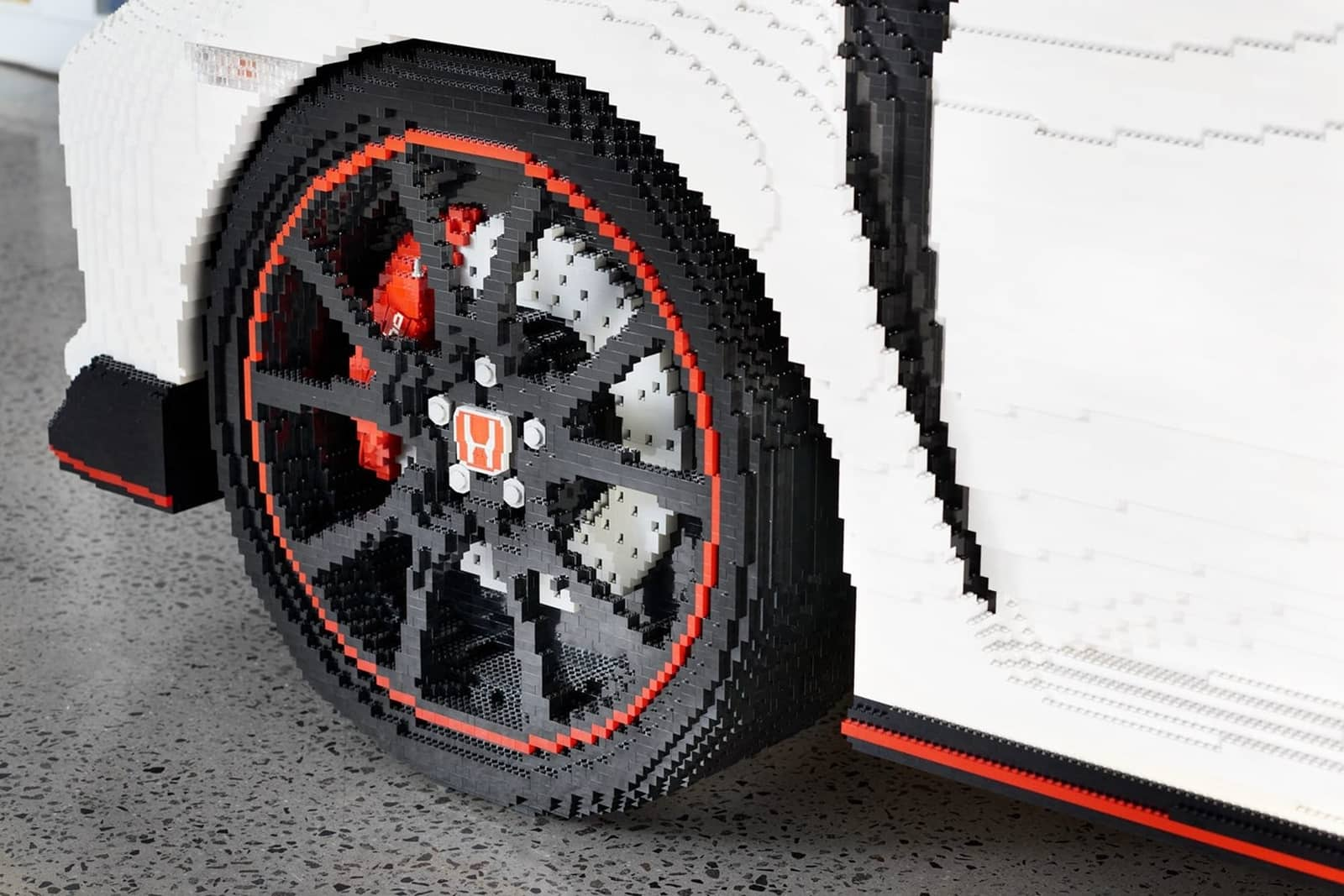 Life-size LEGO® Honda Civic Type R Makes Its Debut