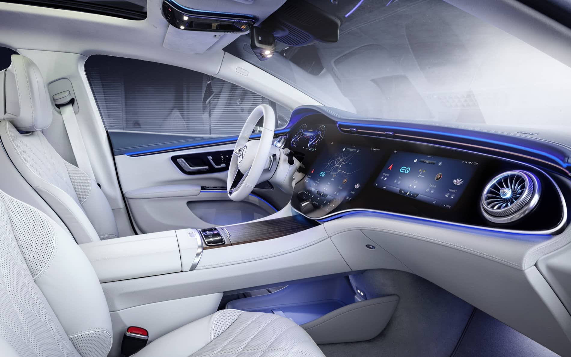 Mercedes-EQ, EQS, Interieur, MBUX HyperscreenMercedes-EQ, EQS, Interior, MBUX Hyperscreen